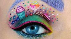 dessert eye makeup #
