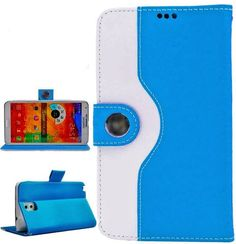 myLife Dodger Blue {Hip Design} Faux Leather (Card, Cash and ID Holder + Magnetic Closing) Slim Wallet for Galaxy Note 3 Smartphone by Samsu...