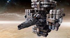 Loaded Cargo Ship - Jim Martin Concept Art