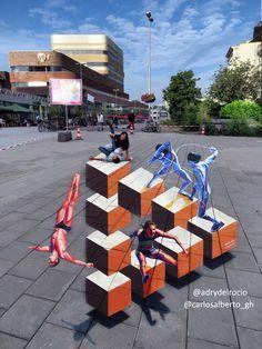 #worldstreetpainting #festival#adrydelrocio & #carlosalberto_gh #arnhem #thenederthlands #holland #streetartmx #streetart #3D #olimpycgames