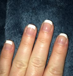 SensatioNail French manicure white tips. Peel and stick. So easy!