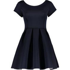 Open Back Bonded Skater Dress (1.975 RUB) ❤ liked on Polyvore featuring dresses, vestidos, open back skater dress, skater dresses and open back dresses
