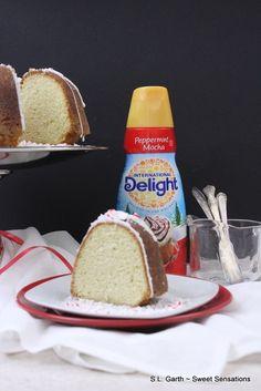 Peppermint Mocha Bundt cake with International Delight creamer. #DelightfulMoment #Ad #CollectiveBias @walmart