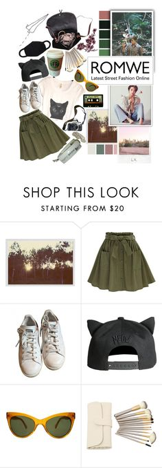 """latest street ^cats^ pt. 2"" by the-neon-rose on Polyvore featuring Pottery Barn, Polaroid, adidas, Eos, Michele, KamaliKulture, MANGO, contest, romwe and btspolyvorearmy"