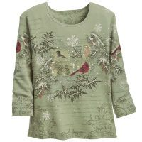 Winter Birds Top
