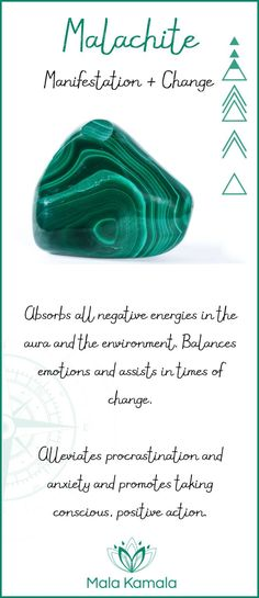 What is the meaning and crystal and chakra healing properties of malachite?