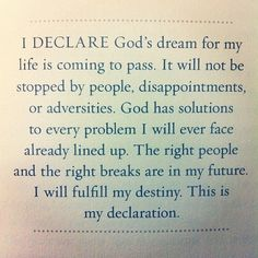 I Declare, Believe and Receive in Jesus name. Thank U God. Faith Quotes, Bible Quotes, Me Quotes, Bible Verses, Holy Quotes, Biblical Verses, Funny Quotes, Be My Hero, All I Ever Wanted