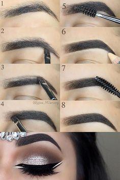 Make Up; Look; Make Up Looks; Make Up Augen; Make Up Prom;Make Up Face; Makeup Tricks, Eyebrow Makeup Tips, Diy Makeup, Makeup Tools, Makeup Inspo, Makeup Inspiration, Makeup Brushes, Makeup Artists, Makeup Eyebrows