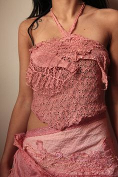Wild roses dusty rose  lace top festival dance by FractalWings, $65.00