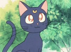 Sailor Moon ~ Luna Diana Sailor Moon, Sailor Moon Cat, Sailor Mars, Sailor Moon Aesthetic, Cat Aesthetic, Luna And Artemis, Pet Style, Sailor Moon Character, Cute Kawaii Drawings