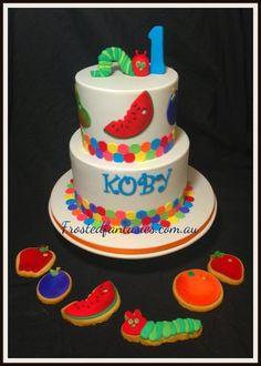 The Very Hungry Caterpillar  Cake by frostedfantasies