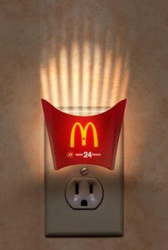 McDonald's design conveying that it is open 24 hours. Creative and catchy. #Pinterest-Advertisely-Magazine-Print-Ads