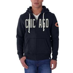 Women's Chicago Bears Nike Navy Tailgate Vintage Full-Zip Hoodie ...