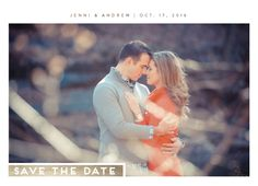 save the date cards - Sleek Gold by Sincerely Jackie