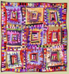 "Image of quilt titled ""Safe Haven?,"" by Louise Harris"