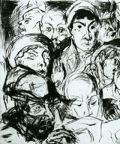 Otto Dix, The Declaration of War, 1914
