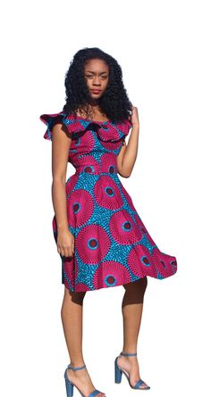 African print dress, Ankara dress, African clothing (Please read item details) African Dresses For Women, African Print Dresses, African Wear, African Prints, African Style, Stylish Outfits, Fashion Outfits, Woman Outfits, Classic Outfits