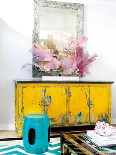 Livening Up The Week With A Dose of Yellow (Design Addict Mom) Decor, Funky Furniture, Furniture Makeover, Yellow Furniture, Hand Painted Furniture, Furniture, Furniture Inspiration, Chalk Paint Furniture, Yellow Painted Furniture
