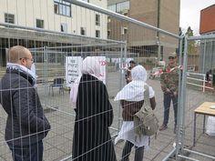 An Israeli military checkpoint was recreated at Cambridge University - Photo credit- University of Cambridge Palestine Society