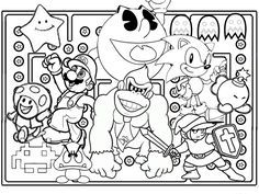 Coloring Pages Video Games Funycoloring With