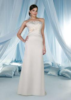 A-Line Straight Neckline Strapless with Ruffles Zipper Floor Length Taffeta Wedding Dress