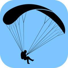 Silhueta simples de um parapente / Simple paragliding silhouette
