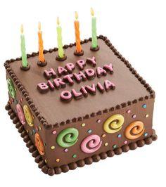 Yum! Love this candy swirls birthday #cake idea from @Wilton Cake Decorating
