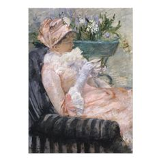 The Cup of Tea by Mary Cassatt #invitation #cards