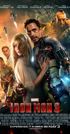 Iron Man 3 (2013) - Much more explosive and violent than the others, but I really liked how they added a bit of reciprocal hero stuff in with a kid (avoiding spoilers here). Also the ending was pretty edge-of-your-seat, which we need as of late. ~ Kim Bongiorno @letmestart