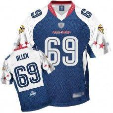 dd5d4f17 Vikings #69 Jared Allen Blue 2010 Pro Bowl All star Stitched NFL Jerseys  Brian Dawkins