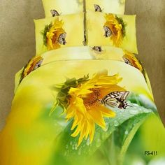 If you describe yourself as a non-traditional decorator, these sunflower bedding sets work. Brighten up a bedroom with a prominent Yellow Duvet Bedding Set. Queen Size Duvet Covers, Queen Duvet, Queen Size Bedding, King Comforter, Luxury Duvet Covers, Bed Duvet Covers, Duvet Cover Sets, Cushion Covers, Duvet Bedding Sets