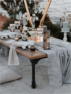 Luxury French Riviera Tablesetting   Image by Studio Balzac French Wedding Style, French Brands, Table Arrangements, French Riviera, South Of France, Event Decor, Cute Couples, Wedding Table, Wedding Styles