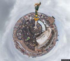 Wat een gave foto's van mensen in Kiev die demonstreren voor een Europees Oekraine