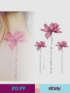 Temporary Tattoos Health & Beauty, # Beauty # Temporary … – foot tattoos for women flowers Mommy Tattoos, Tattoos 3d, Mother Tattoos, Spine Tattoos, Forearm Tattoos, Cute Tattoos, Flower Tattoos, Body Art Tattoos, Small Tattoos
