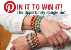 Pin to Win the Limited Edition Opportunity Bangle Set