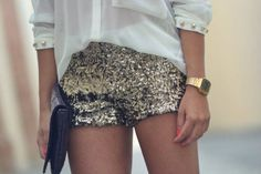 Sequin shorts. http://neonwatch.tumblr.com/post/101744918811/great-deal-on-the-vaporware-golden-casio-at
