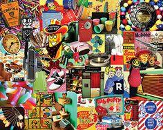 Retro, Retro, Retro 1000 Piece Jigsaw Puzzle, Collage Puzzle-White Mountain Puzzles