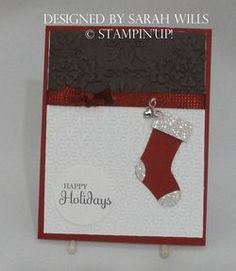 Now I HAVE to buy the stocking builder punch from Stampin' Up!
