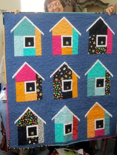 House quilt. Not able to credit this.