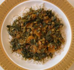 Curried Collard Greens and Lentils