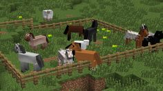Simply Horses textures for Minecraft.... Someone has too much free time!
