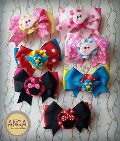 Ganchitos a presión: Peppa Pig, Minnie Mouse y Gallina Pintadita