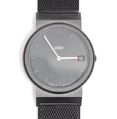 Men's watch Braun AW 50 Titanium design Dietrich Lubs 1991-'92 executed by Braun / Germany