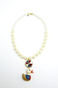 77th: Vintage Duck Necklace