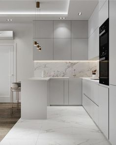 Kitchen Cabinet Design, Luxury Kitchen Modern, Kitchen Remodel, Luxury Kitchen, Kitchen Decor Modern, Kitchen Inspiration Design, Kitchen Room Design, Kitchen Furniture Design, Minimalist Kitchen