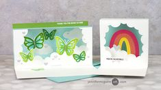 Homemade Greeting Cards, Hand Made Greeting Cards, Jennifer Mcguire Ink, Handmade Card Making, Miss You Cards, Interactive Cards, Card Making Techniques, Frame Display, Card Tutorials