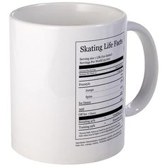 Skating Life Facts Mug on CafePress.com