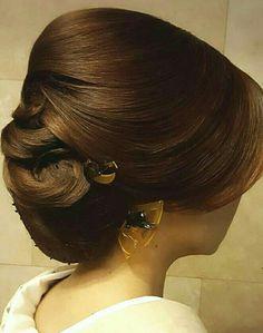 Hair stile Mantapnya Modern Hairstyles, Bun Hairstyles, Wedding Hairstyles, Wedding Hair And Makeup, Hair Makeup, Mother Of The Groom Hairstyles, Chignon Hair, Hair Upstyles, Hair Arrange