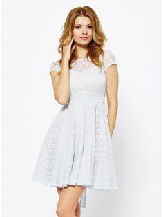 Sukienka Caroline w kolorze błękitnym