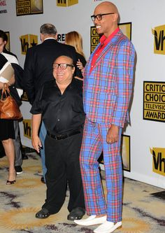 Danny Devito and RuPaul...the long & the short of it